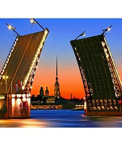 5D DIY St. Petersburg Bridge Diamond Painting