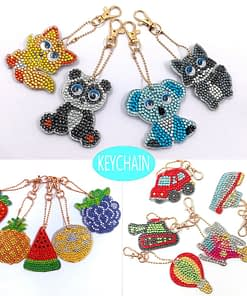 5D Diamond Painting Key Chain