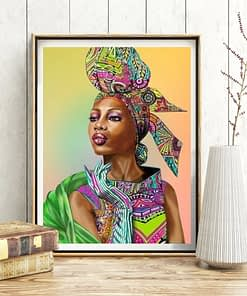 African Woman Diamond Painting