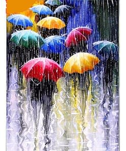 Rainy Season Umbrella Diamond Painting