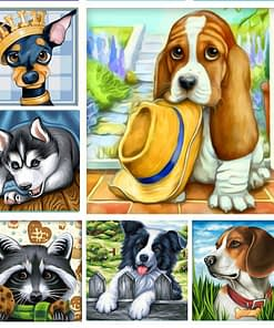 Cartoon Dog Diamond Painting