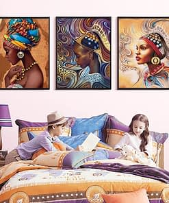 African Girl Diamond Painting