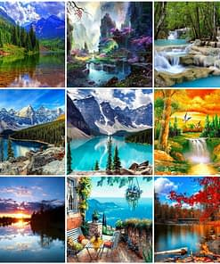 Waterfalls Landscape Diamond Painting