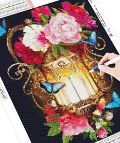 HUACAN 5d DIY Diamond Painting Flower Full Square Diamond Embroidery Rhinestone Picture Diamond Mosaic Painting With