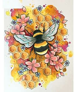 Honey Bee Diamond Painting