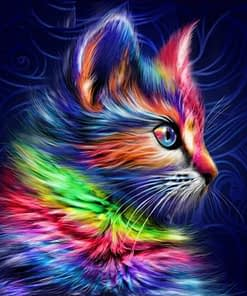 5D DIY Rainbow Cat Diamond Painting