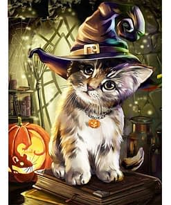 5D Halloween Cat Diamond Painting