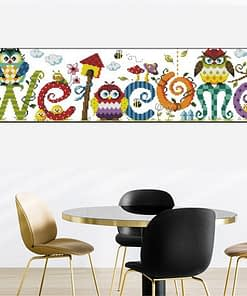 5D Diamond Painting Welcome Home Sign