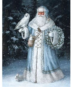 5D Diamond Painting Snow Father Santa Claus