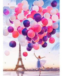 5D Diamond Painting Balloons in Paris