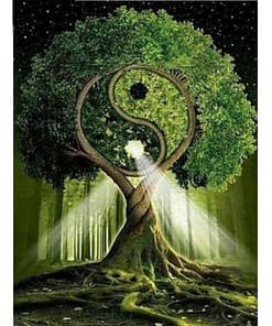 5D Diamond Painting Yin Yang Tree