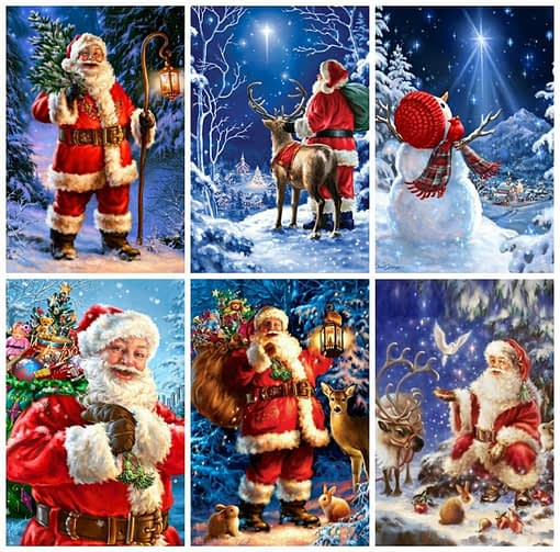 Santa Claus Winter Diamond Painting