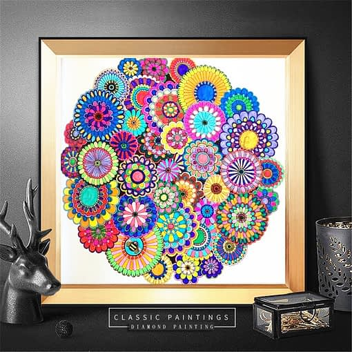 Flowers Abstract Diamond Painting