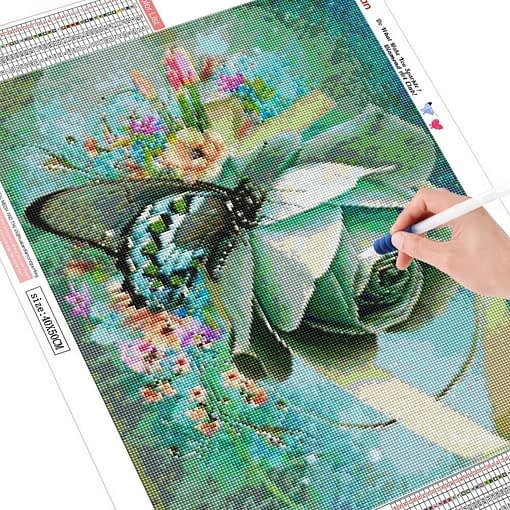 HUACAN 5D Diamond Painting Full Square Butterfly And Flower Embroidery Sale Picture Rhinestone Diamond Mosaic Home