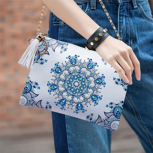 HUACAN 5D Special Shaped Diamond Painting Chain Bags Mandala DIY Diamond Embroidery Wallet Women Christmas Gifts 1