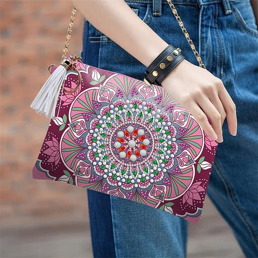 HUACAN 5D Special Shaped Diamond Painting Chain Bags Mandala DIY Diamond Embroidery Wallet Women Christmas Gifts