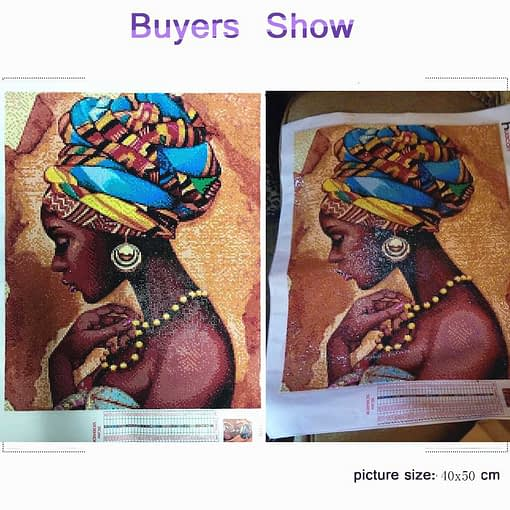 HUACAN Diamond Embroidery Portrait DIY Diamond Painting South African Girl Full Square Drill Home Decor Picture