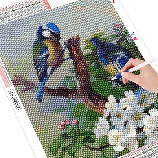 HUACAN Diamond Painting Cross Stitch Birds Diamond Embroidery Animals 5D DIY Mosaic Full Drill Decoration Home