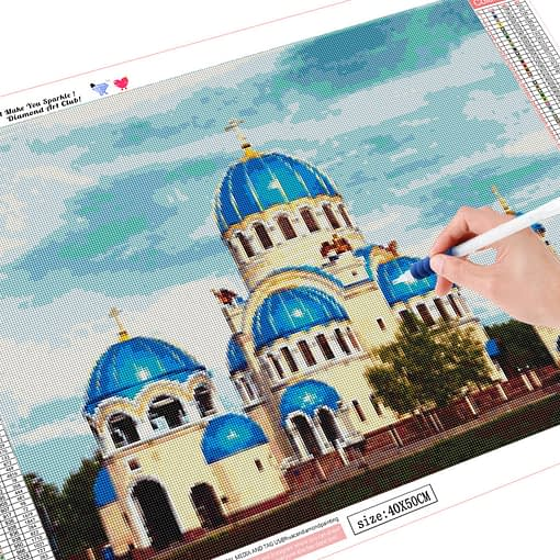 HUACAN Diy 5d Diamond Painting Muslim Diamond Embroidery Cross Stitch Temple Rhinestones Pictures Mosaic Decoration Home