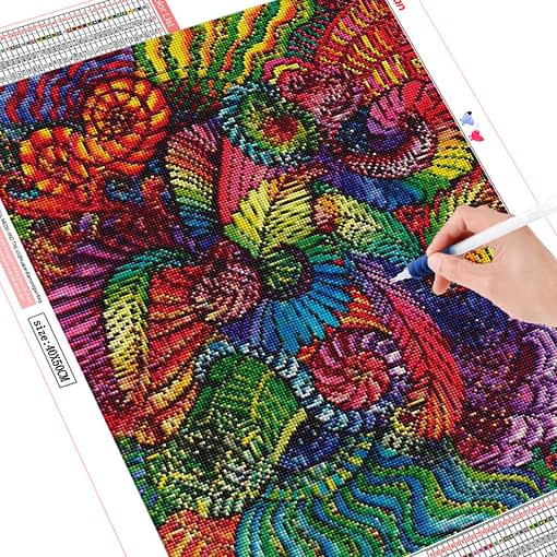 Huacan Official Store Diamond Painting Flower Diamond Mosaic Diamond Embroidery Abstract Rhinestone Picture Craft Kit