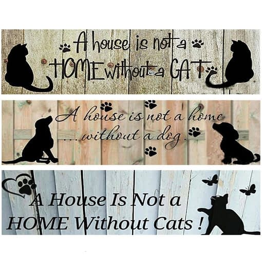 5D Diamond Painting A House Is Not A Home Without A Dog Cat
