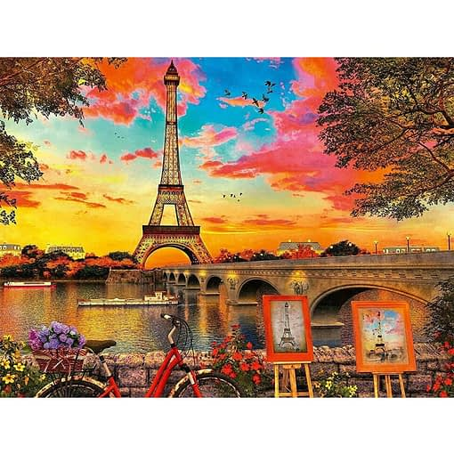 5D Diamond Painting Sunset in Paris