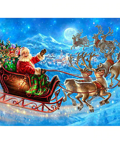 Santa Claus Sleigh Diamond Painting
