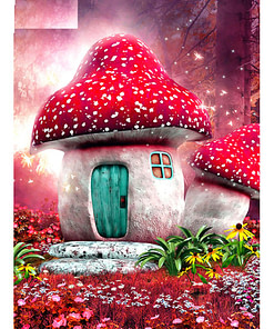 5D Cartoon Mushroom Diamond Painting