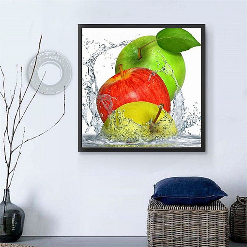 HUACAN 5d diy Diamond Painting fruit Full Square Diamond Embroidery apple Strawberry Mosaic Picture Of Rhinestone