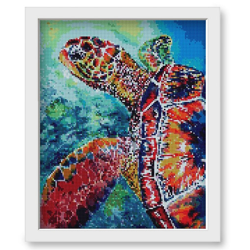 HUACAN Diamond Embroidery Turtle Full Round Resin Drill Diamond Painting Cross Stitch Animal Mosaic Picture Home